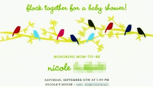 Shower Invite from Tiny Prints
