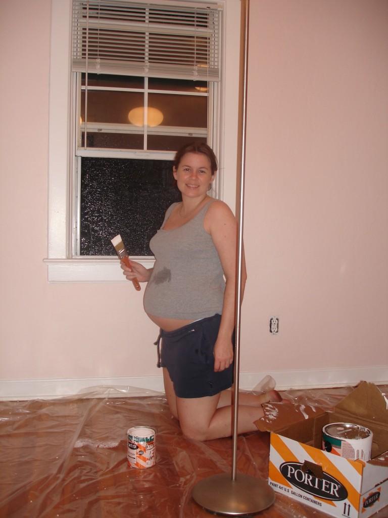 Pregnant painter