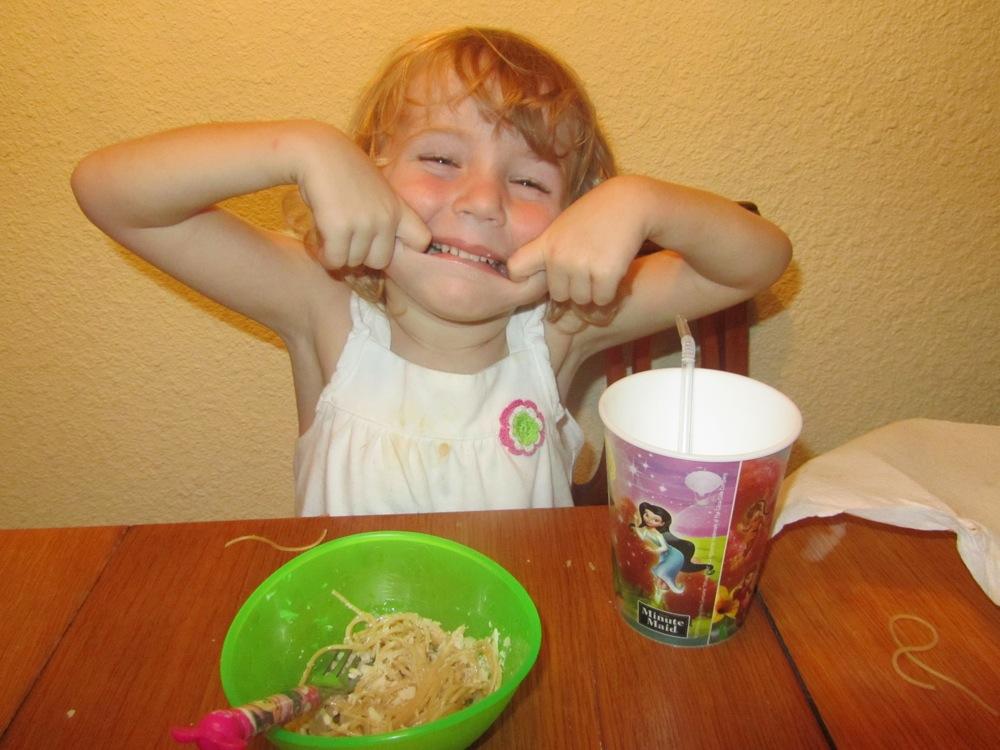 Silly spaghetti dinner