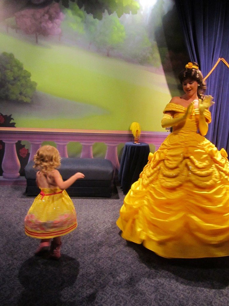 E and Belle twirl