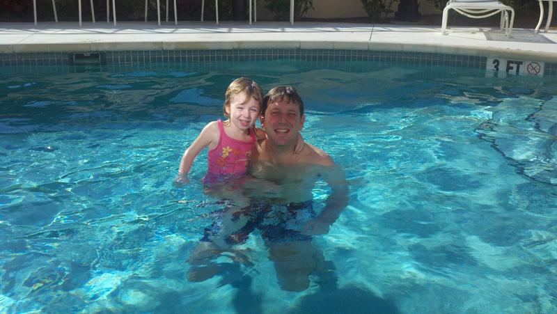 New Year's swimming