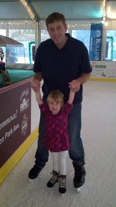 E and DadJovi ice skate
