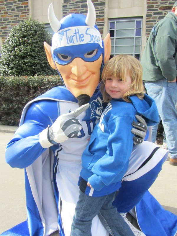 E. meets the Blue Devil