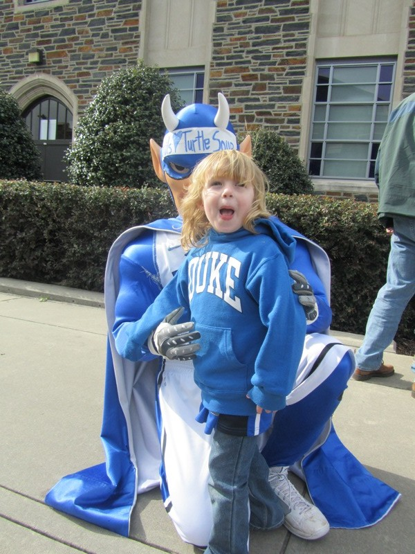 E meets the Blue Devil
