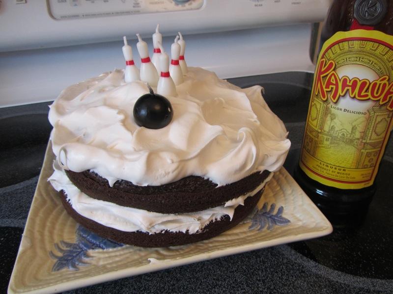 White Russian Big Lebowski Cake
