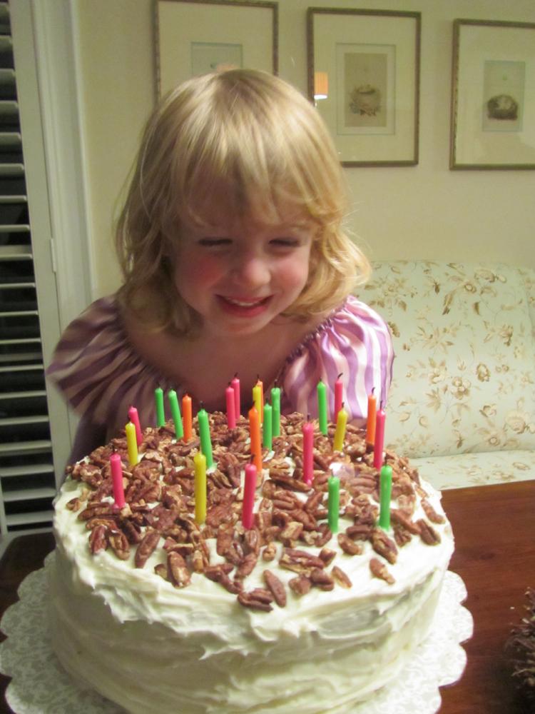 E 4th birthday cake