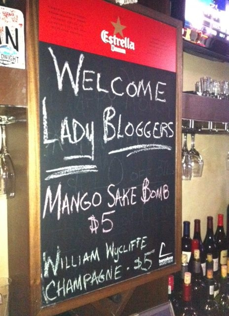 Blogger Meetup: Mango Sake Bomb
