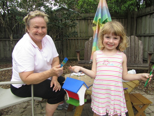 Bird House painting with Gram