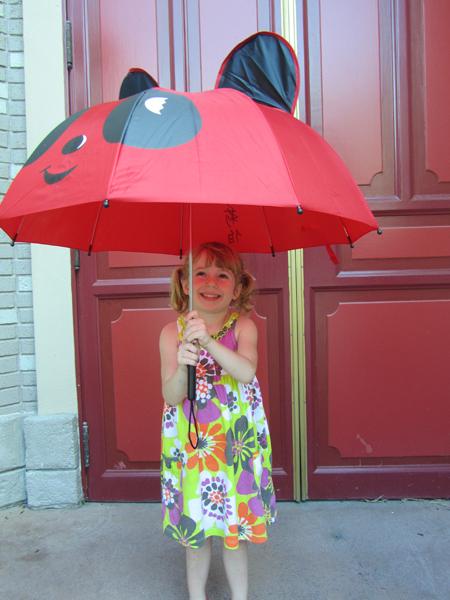 E's panda umbrella