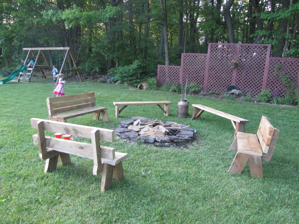 Pa wedding -- campfire