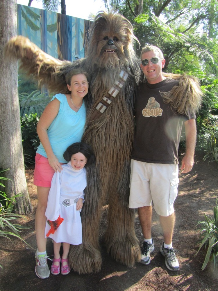 Family pic with Chewie