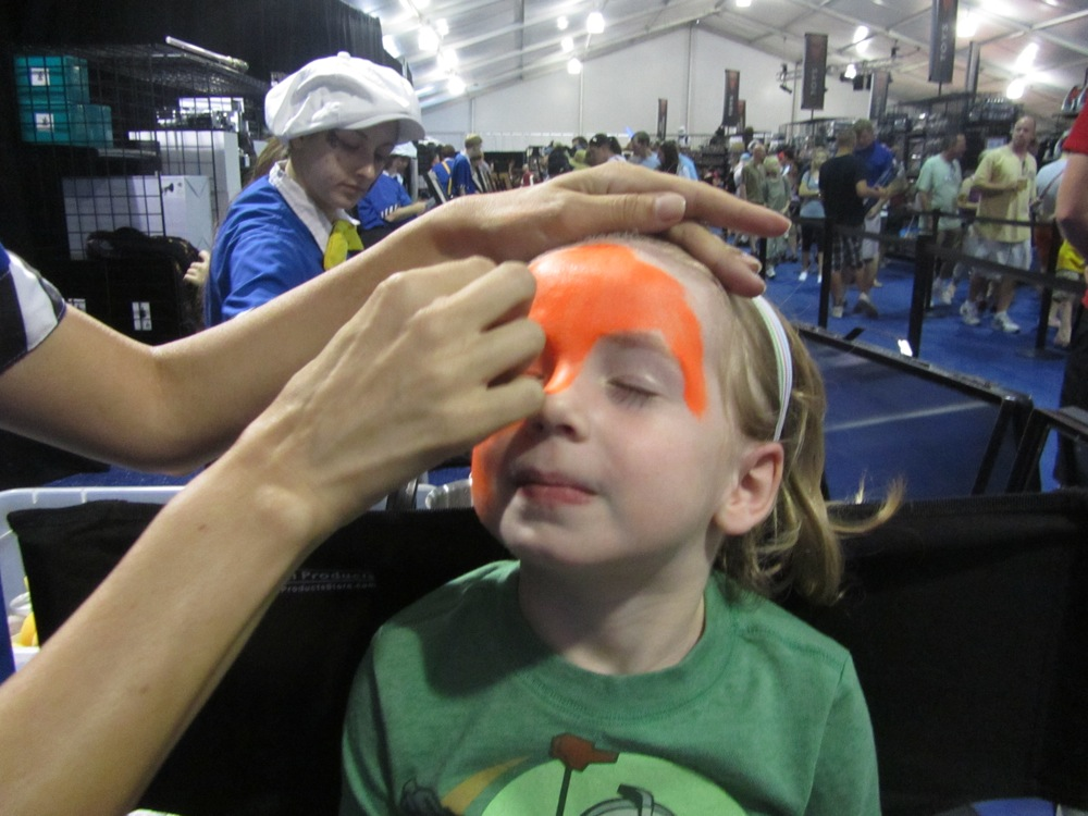 Ahsoka face painting