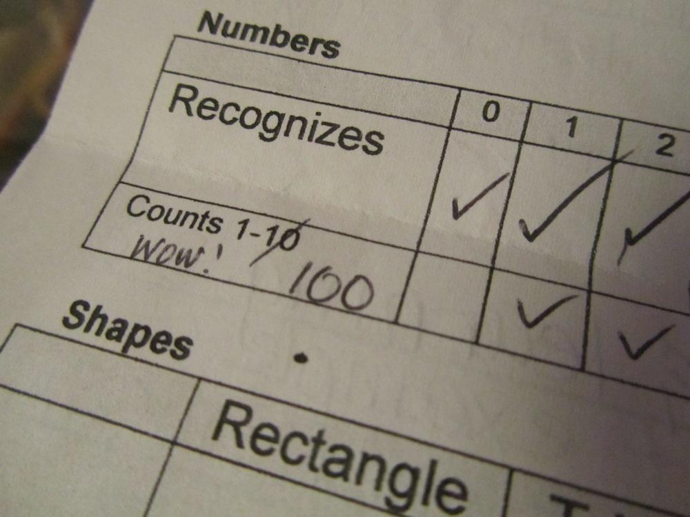 E's report card