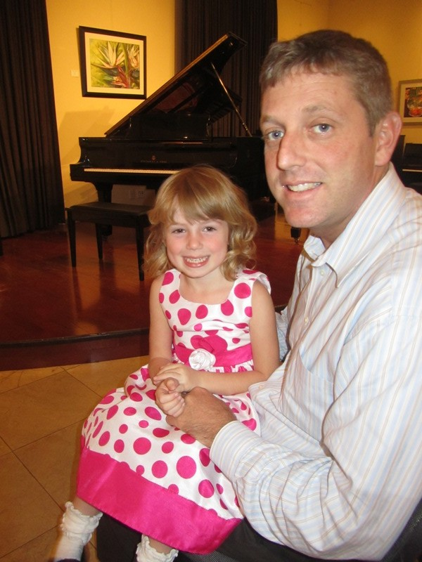 E and DadJovi at piano recital