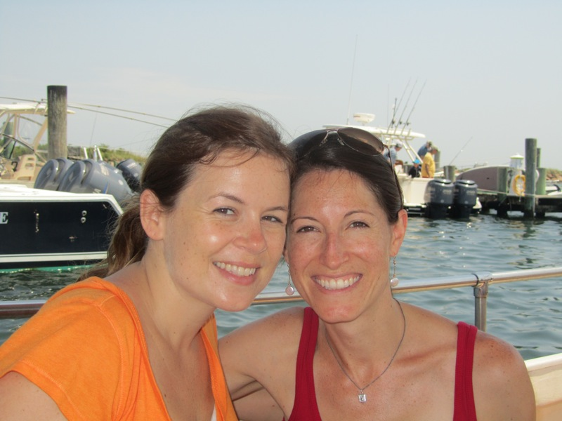 Colie and I on the boat