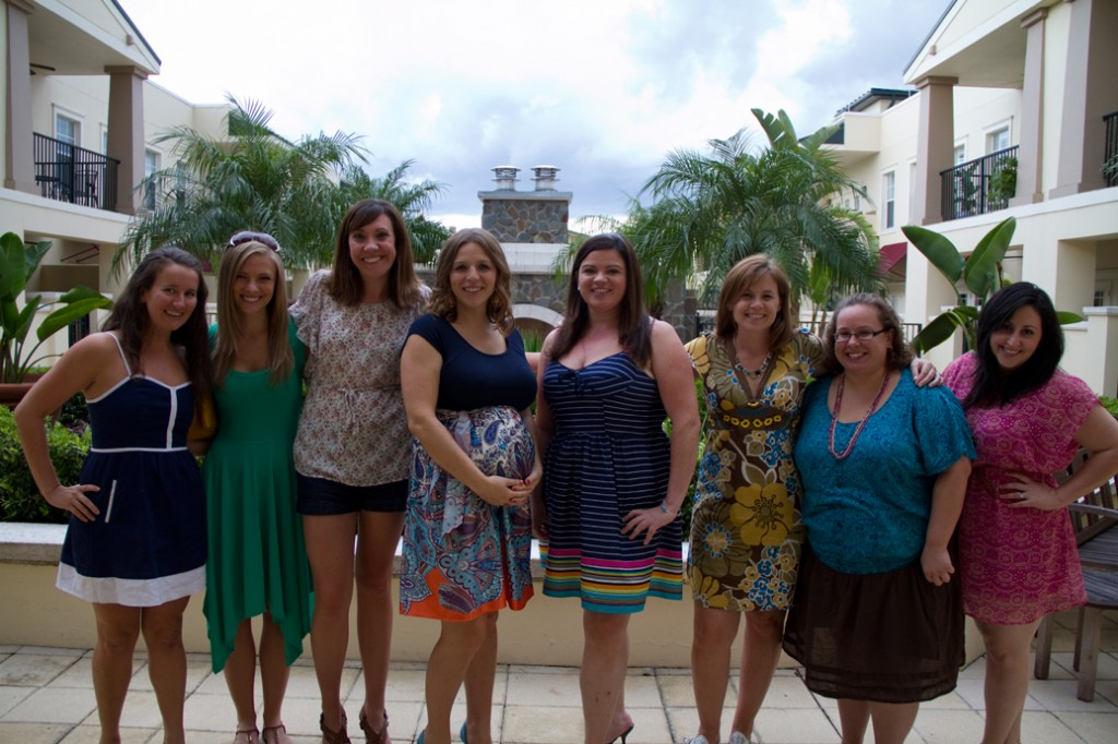 Bloggers at Katy's shower