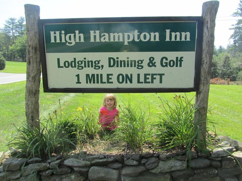 High Hampton Inn sign