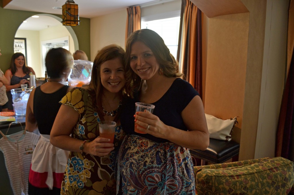 Jackie and Katy at shower