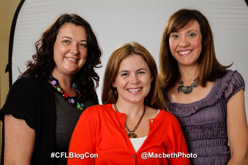 Christine, Me, Michelle at CFLBlogCon