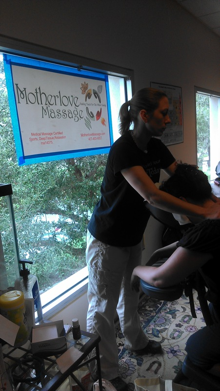 Motherlove massage at CFLBlogCon