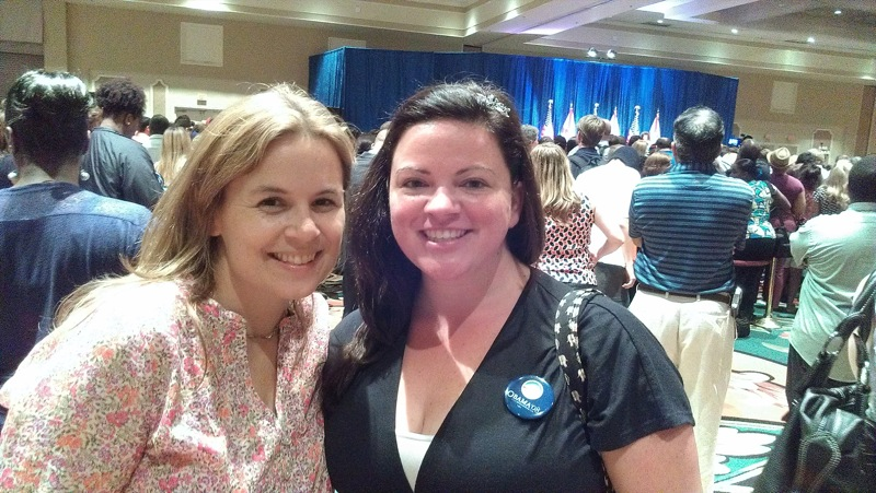 Me and Andrea at Clinton rally