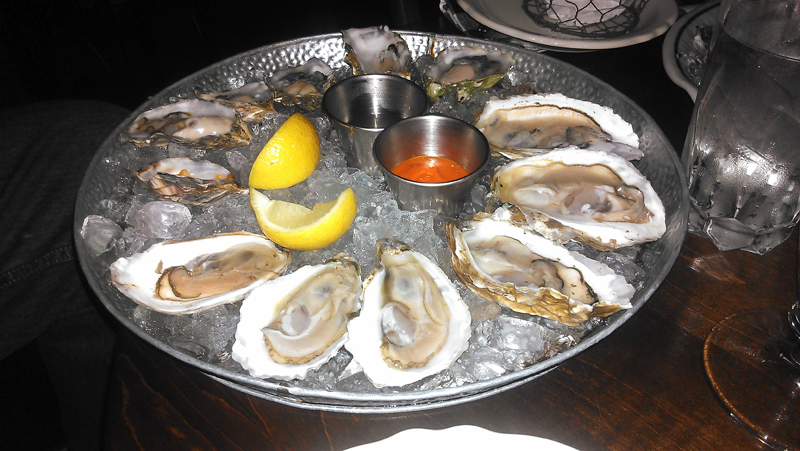 Cask and Larder oysters