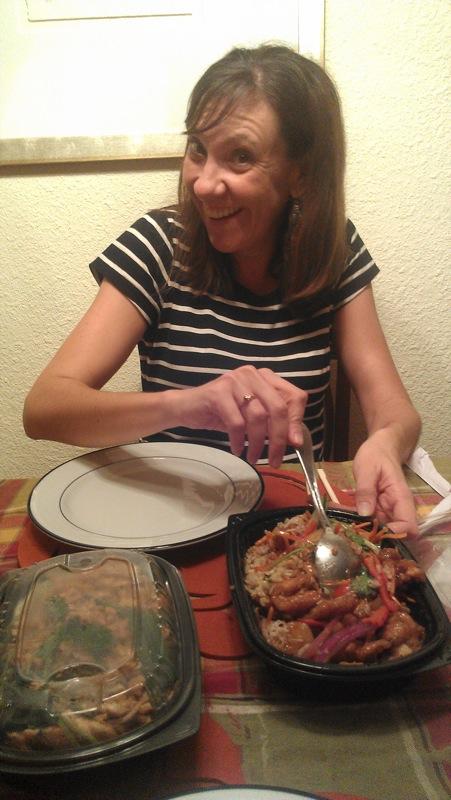 Michelle eat Pei Wei