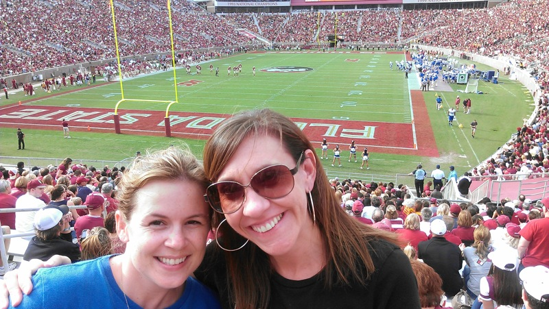 Me and Michelle at Duke-FSU