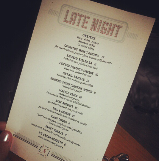 Cask and Larder Late Night