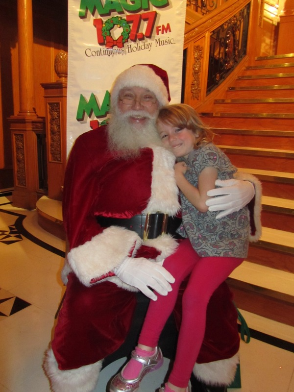 E and Santa, Titanic, Dec 2012