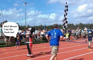 Mickey Mile-finish