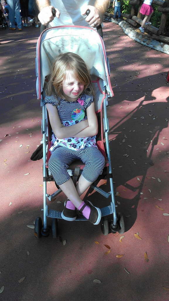 E in a stroller