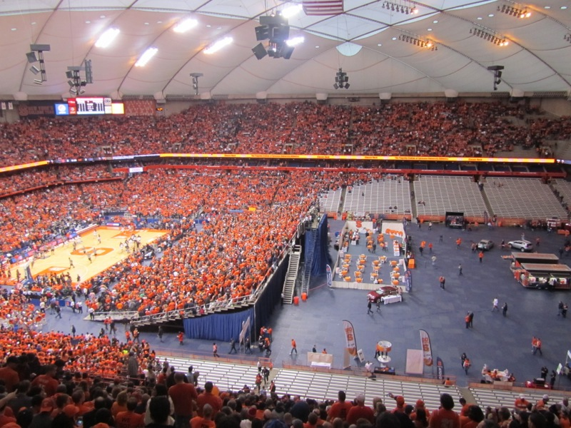 Syracuse-Georgetown, Carrier Dome