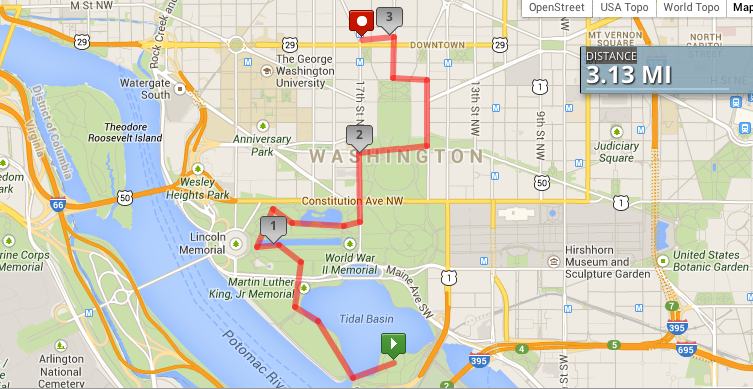 Map of our DC Walking Tour