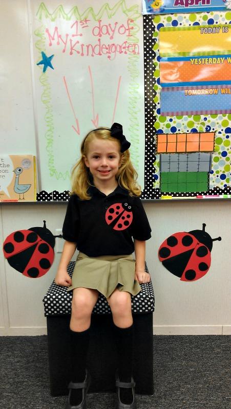 first day seat, kindergarten