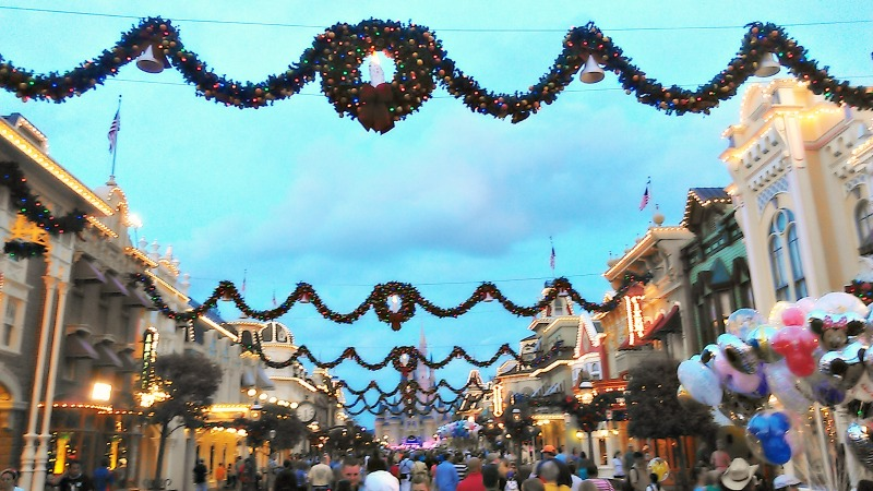 Main Street USA at Christmas