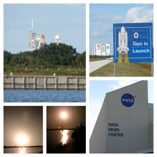 Shuttle night launch collage